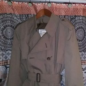 London Fog, Belted, Double-breasted Trench Coat